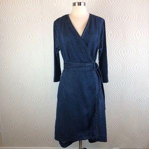 Soft Surroundings Denim Wrap Dress, size Medium